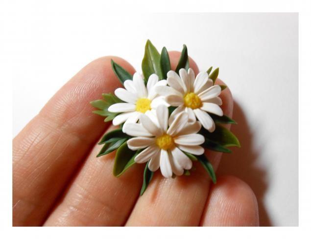 Ромашка из полимерной глины - Ярмарка Мастеров - ручная работа, handmade