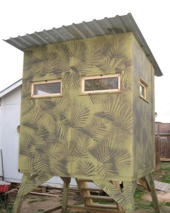 Free homemade deer blind plans Ideas 6