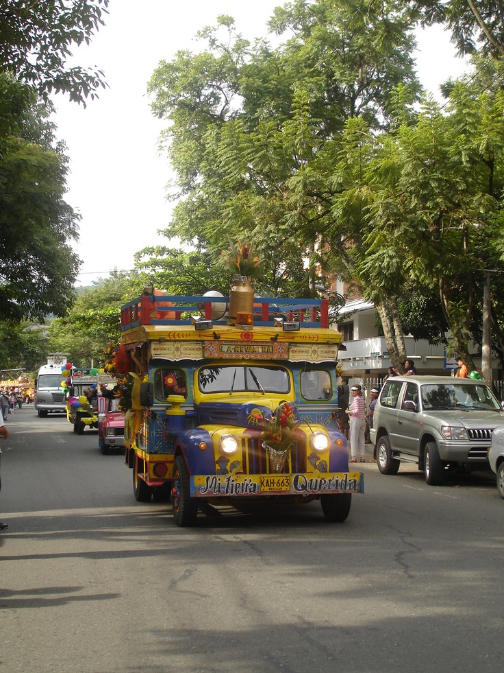 Medellin, Colombia this is known as a Chiva. It is a party bus. There is usually band on board and will make numerous stops around the city or surrounding towns. Everyone drinks and dances during the trip. Lots of fun!!!