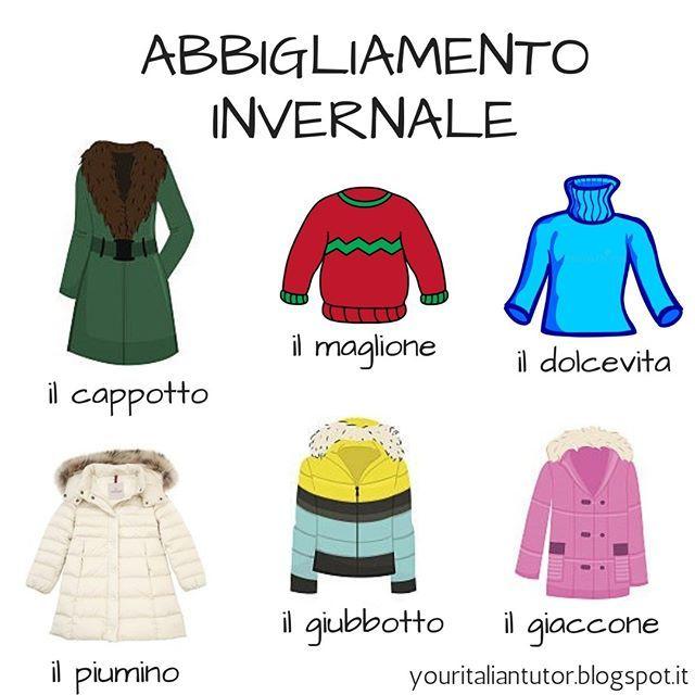 brand new 75a6c 955f8 Italian vocabulary: ABBIGLIAMENTO INVERNALE (Winter clothing ...