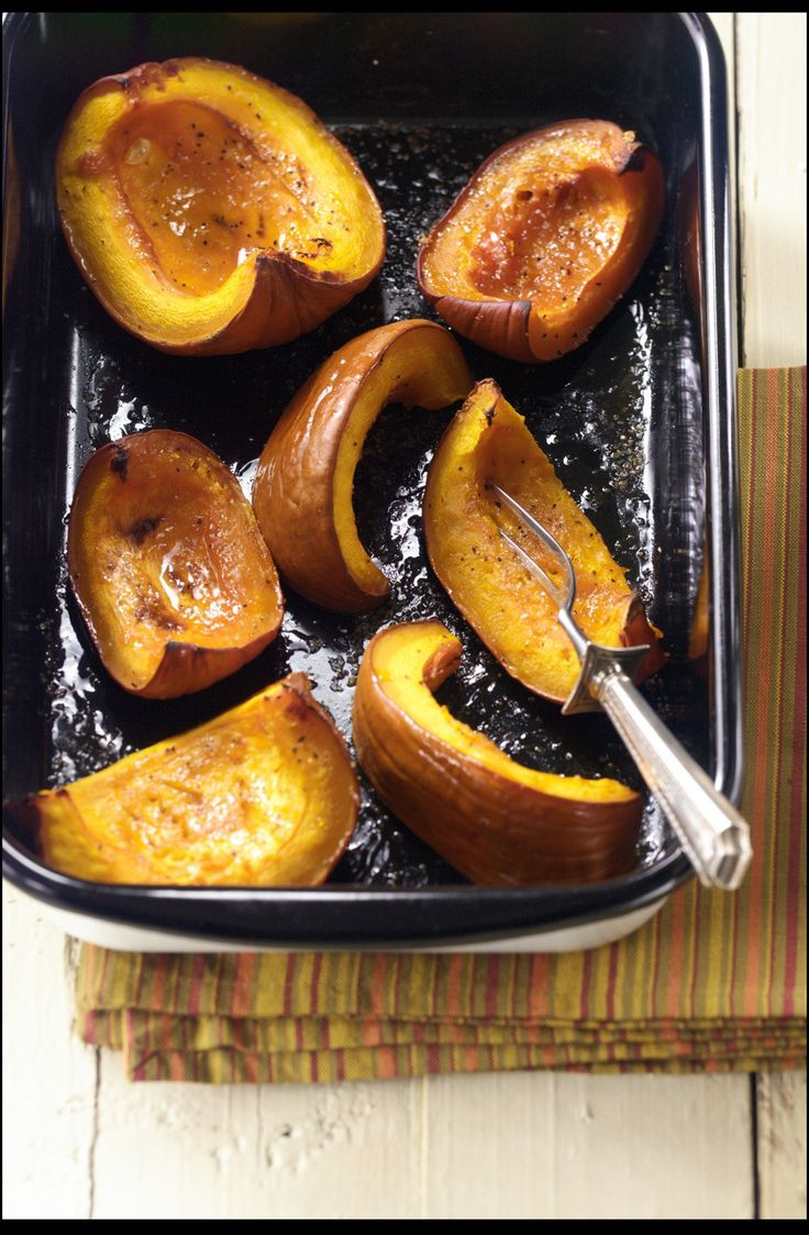 Maple-Roasted Pumpkin Wedges Recipe – Get the most out of that pumpkin by roasting it in wedges! A drizzle of maple syrup brings out the finest fall flavors. // spryliving.com