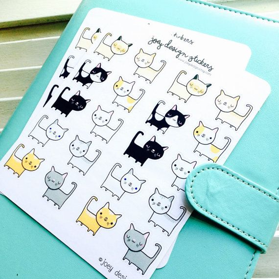 Cute stickers - KITTY CATS, Vanskap, perfect for your planner