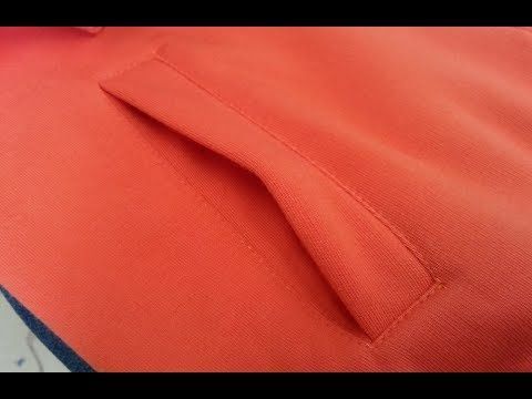 Sewing course part 1.How to sew a pocket. Long sleeve zipperJak uszyc k...