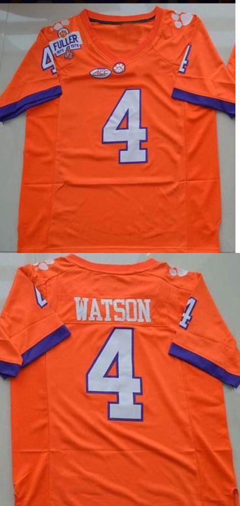 College-NCAA 24541: Deshaun Watson Clemson Jersey #4 (M, L, Xl) Football Tigers -> BUY IT NOW ONLY: $44.99 on eBay!