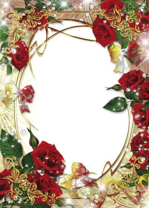 Цветочная рамка - в розах