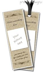 microsoft bookmark templates