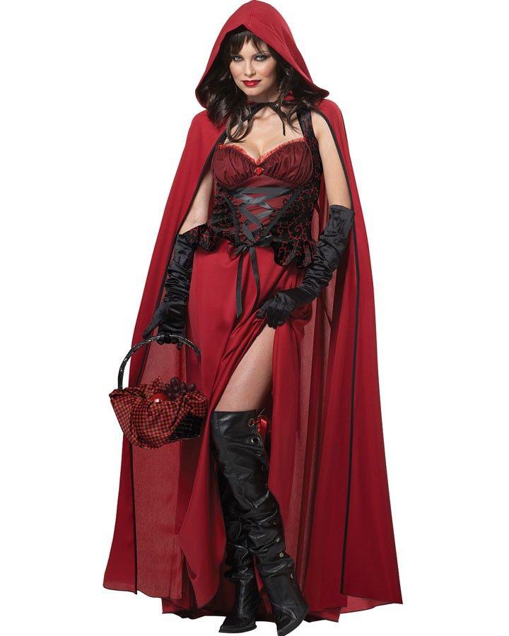 Dark Red Riding Hood Womens Costume