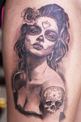 Realism Muerte Tattoo by Miguel Bohigues