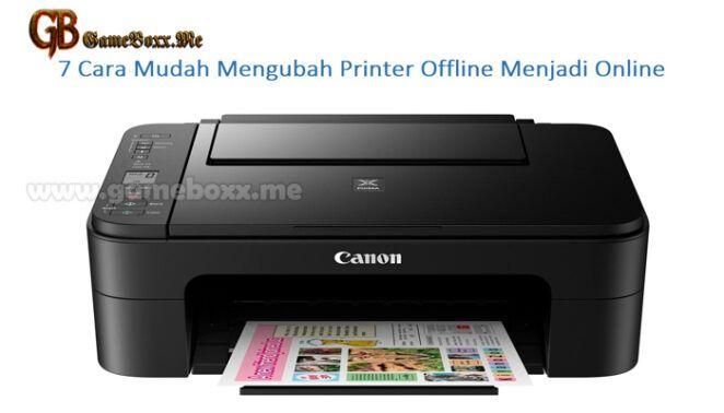 7 Cara Mudah Mengubah Printer Offline Menjadi Online Printer Pengawetan