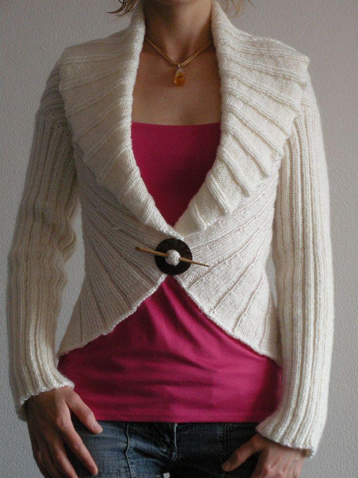 Sculpted knit cardigan