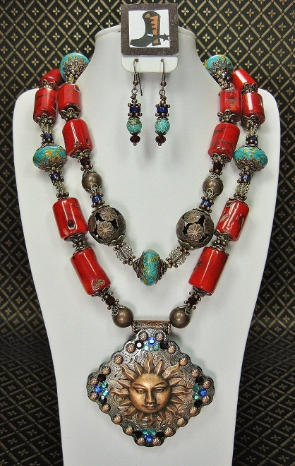 SOUTHWESTERN STYLE COWGIRL Necklace Set / by CayaCowgirlCreations, $62.50