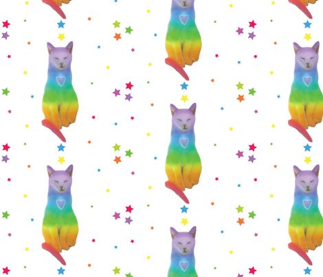 RAINBOW KITTEN with Stars by becky_todd