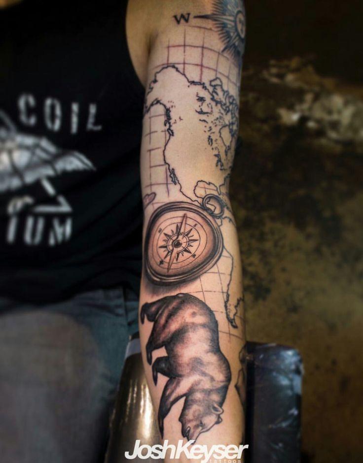 compass California bear American map California bear