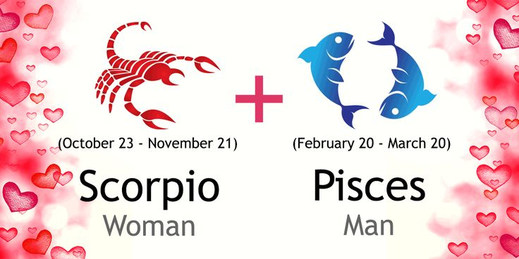 Love match compatibility between Scorpio woman and Pisces man. Read about the Scorpio female love relationship with Pisces male.