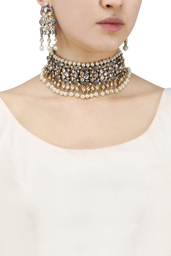 Kundan Polki Meena Padmavat Amrapali Chokar Neckalec Bridal Party Jewelry Elegant And Sturdy Package Engagement & Wedding