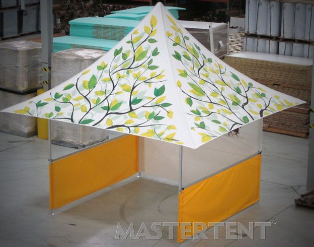 Custom Canopy Tent: Wells Fargo MasterTent 10'x10' Pop-Up #mastertent #tentforfairs
