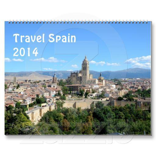 Travel Spain 2014 wall calendar