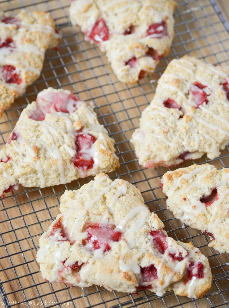 These gluten-free Strawberries and Cream Scones are fantastic! Moist with just the right amount of crumb. Sweet and bursting with fresh strawberries. Yum!