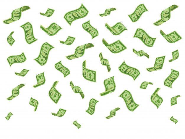 Notas De Queda Bank Notes Bills Fall Dollar Bill