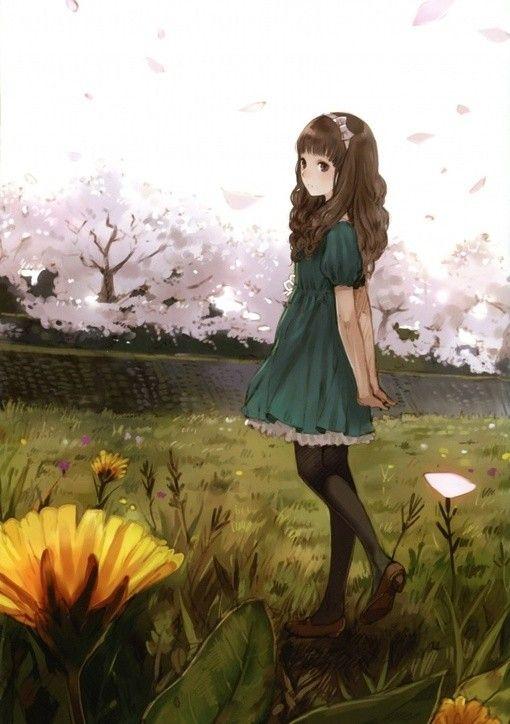 ladies jewlery Pretty anime girl