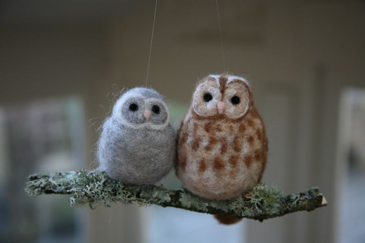 Rosie Nelson's Needle Felted Owls