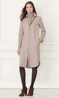 Antonia Wool Shirtdress - Collection Apparel Midi - RalphLauren.com