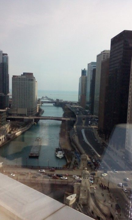 Looking out from 16th floor Trump Tower