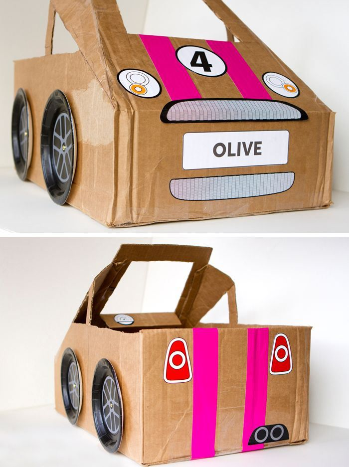 we recently posted an adorable picture of personal cardboard box cars now we found easy