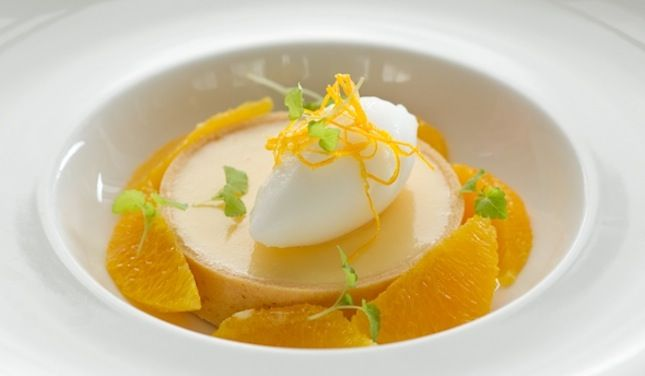 Anna's Lemon Twist dessert is currently featured in the Café mix menu at Shangri-La Hotel Sydney, it's elegant yet easy to make at home with that kick of citrus.