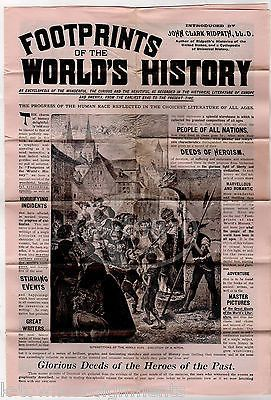FOOTPRINTS OF THE WORLD'S HISTORY ANTIQUE WORLD PUBLISHING BOOK ADVERTISEMENT