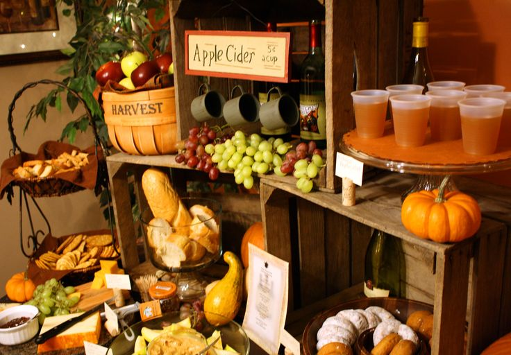 Great display with crates to give some height and interest to your Fall party table.