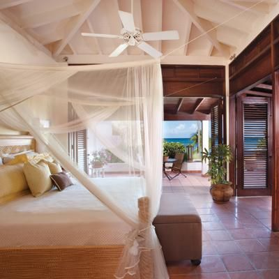 What a gorgeous room! This is award-winning Jumby Bay, A Rosewood Resort - Antigua