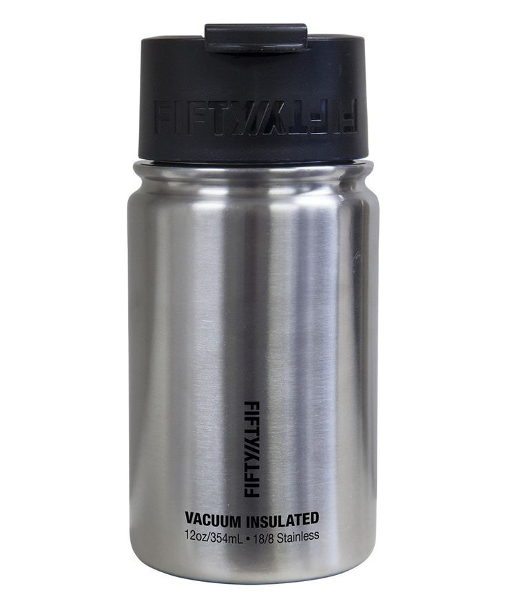 Stainless Steel Flip-Cap Vacuum-Insulated 12-Oz. Water Bottle