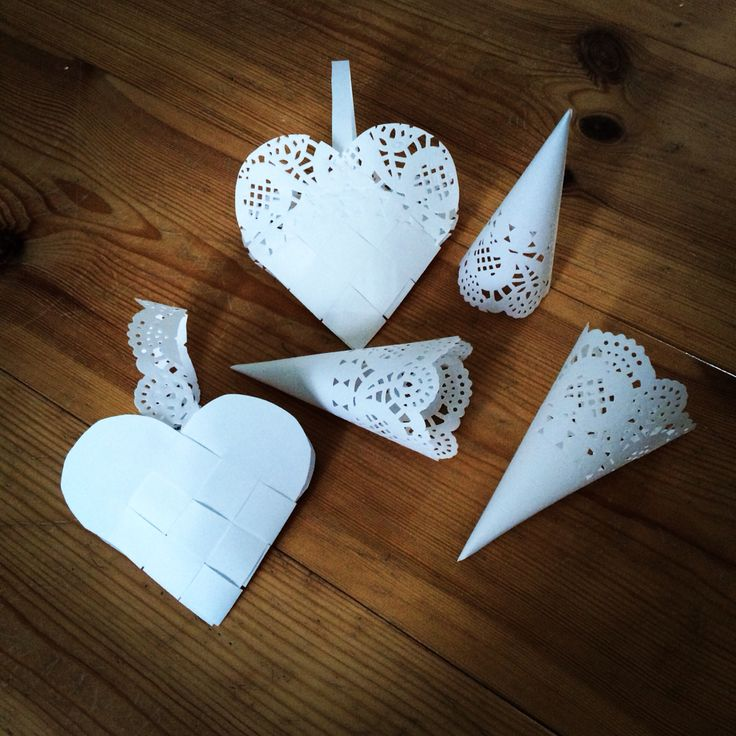 Paper dollies Christmas decorations