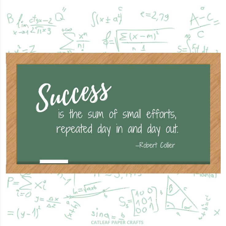I'm not much for math, but today's #TuesdayMotivation is a formula I can get behind! Do what you can each day, even if it's something small, to succeed #quotes #success #etsy   Catleaf Paper Crafts