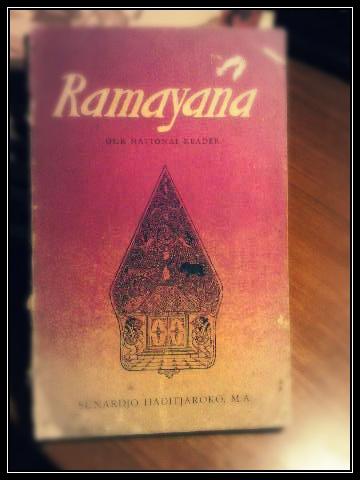Ramayana 'our national reader' by Sunardjo Haditjaroko. Paperback: 114 pages. Publisher: Djambatan, 1961.