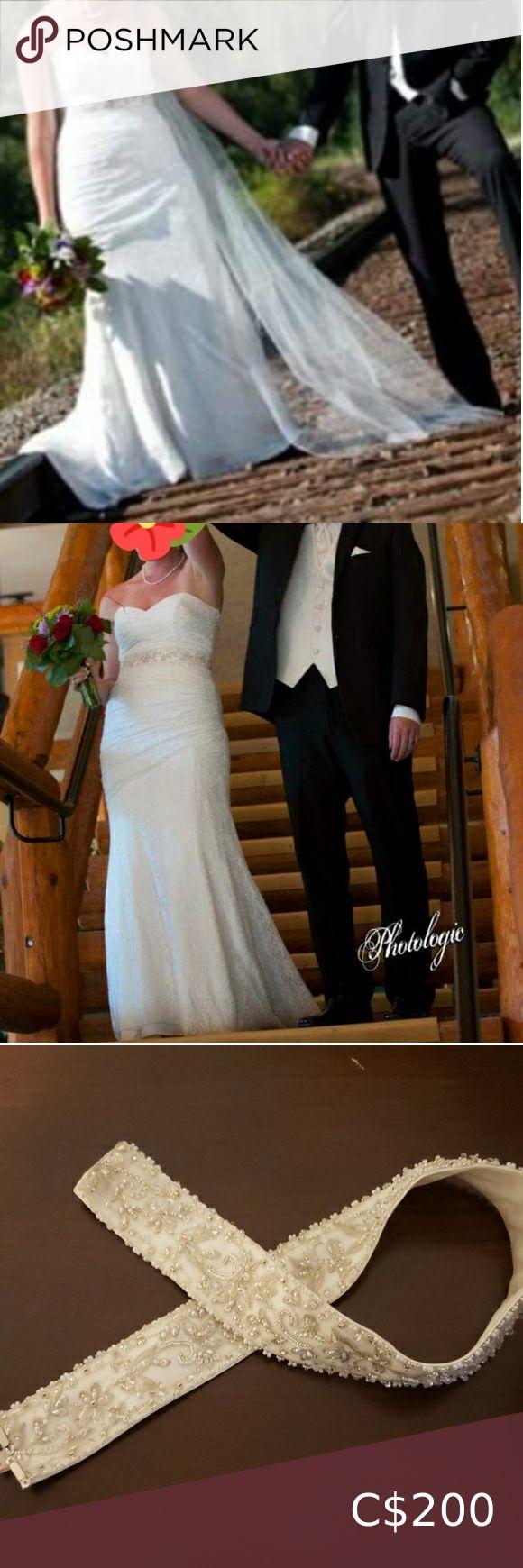 Wedding dress Mikaela size 12 Sweetheart top, lace over