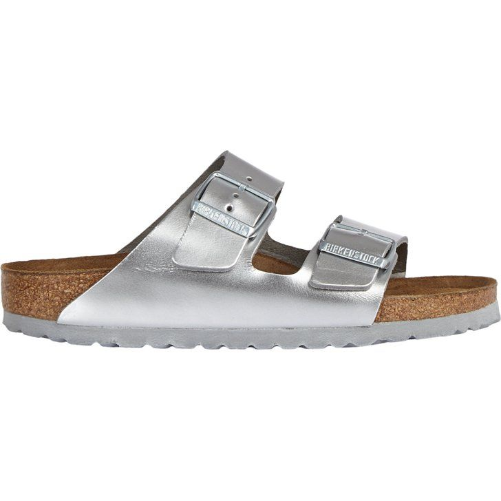 """Pin for Later: Simon Doonan's Top 10 Gifts For Every Fashion Girl  Birkenstock Metallic Arizona Sandals ($130) """"Every groovy chick needs a pair of flats for legging it from party to party."""" — Simon Doonan"""