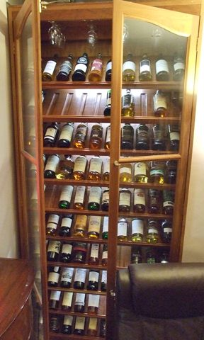 Whiskey Cabinet Shelf Detail Maybe Throw A Bottle Or