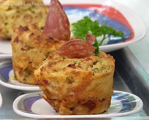 Muffin Salgado   Tortas e bolos > Muffins   Mais Você - Receitas Gshow