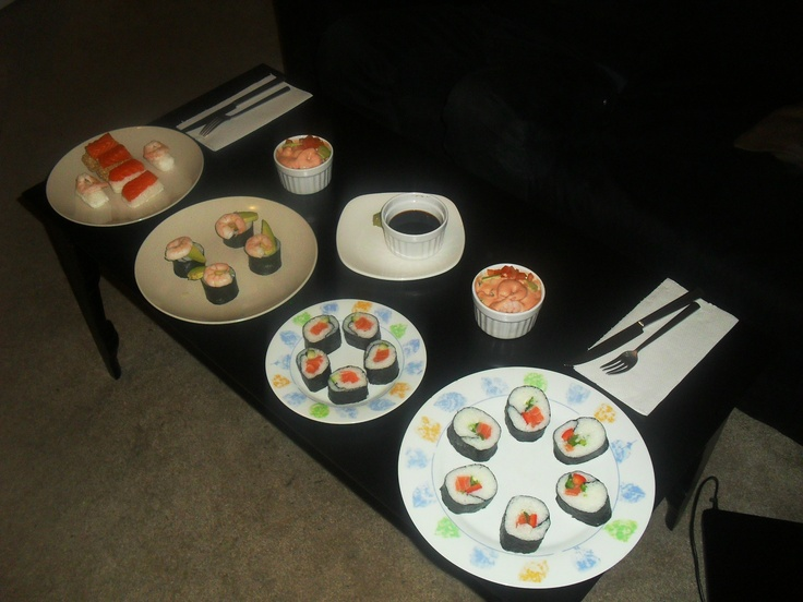 Home made sushi and sushi rolls in Brixton London