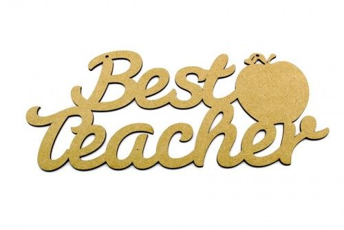 Best teacher plaque.  Teacher and Teaching assistant gifts ready to paint. http://www.lornajayne.co.uk