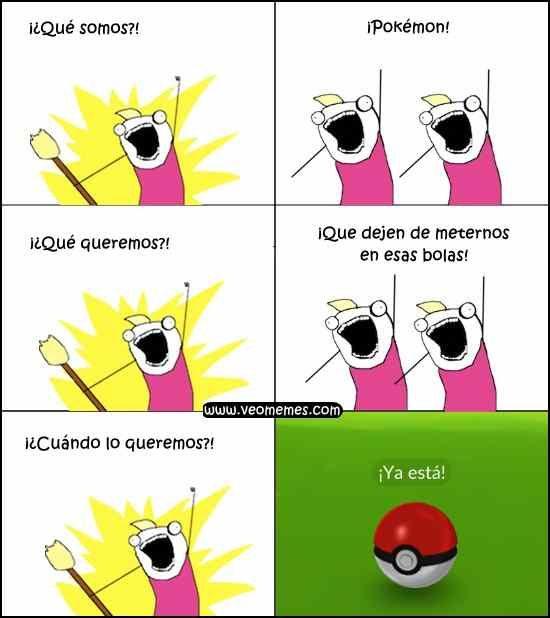 ★★★★★ Memes con mensajes chistosos: Los Pokémon están hartos I➨ http://www.diverint.com/memes-mensajes-chistosos-pokemon-hartos/ →  #memeschistososcortos #memesderisaparafacebook #memesfrasesgraciosas #memesgraciososparafacebook2016 #videosdememeschistosos