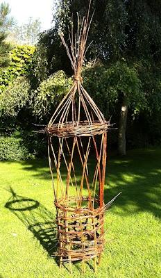 purple podded peas: A skill-swap: willow-weaving / linocutting