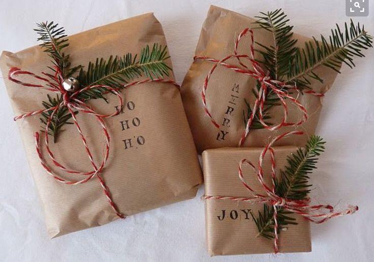 Leuk idee om kerstcadeaus in te pakken