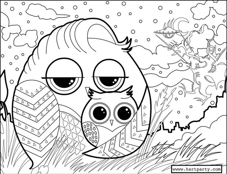 traceable and coloring page owl family by the art sherpa by cinnamon cooney the art sherpa