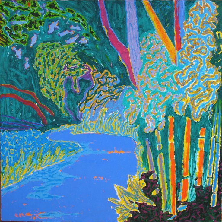 "terminusantequem: "" Björn Wessman (Swedish, b.1949), CHATEAU MARROCAINE, 2010. Oil on canvas, 152 x 152 cm """