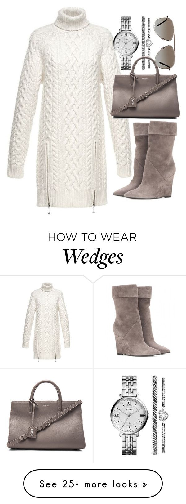 """""""Untitled #19344"""" by florencia95 on Polyvore featuring Yves Saint Laurent, Alexander Wang, FOSSIL and Tom Ford"""