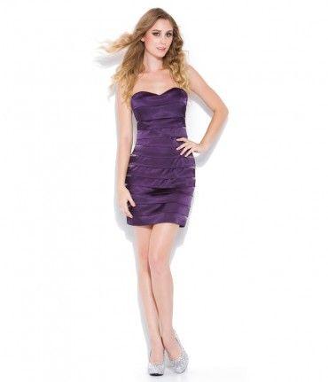 Plum Striped Short Prom Dress #uniqueprom