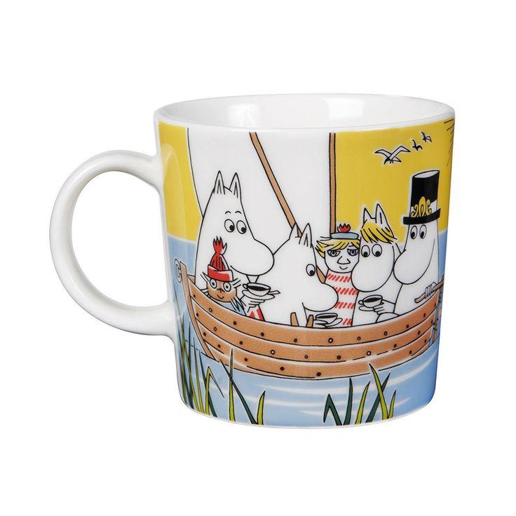 New 2014 mug - Moomin Mug Sail With Niblings and Too-Ticky - Tove Slotte-Elevant - Arabia - RoyalDesign.com